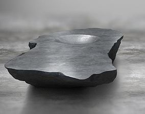 Rock Stone Obelisk Table 3D Model realtime