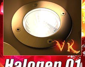Halogen Lamp 01 High detail 3D