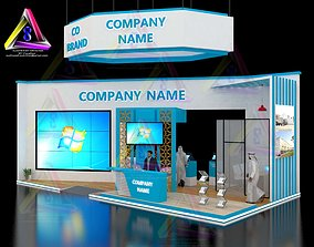 3D print model 12 m X 6 m Island Type Exhibition Stand 2