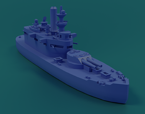 3D print model USS Wyoming 1900