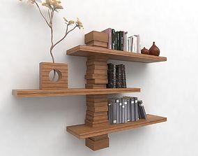 3D model Modern Wall Bookshelf