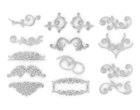 3D Ornate Swirls 04 Set