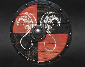 3D asset game-ready PBR Viking Shield
