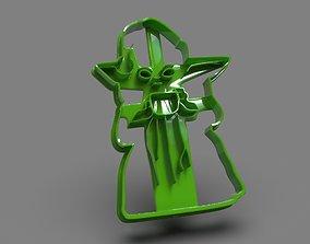 Baby Yoda Full Body cookie cutter X-Mas 3D print model