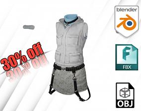 3D asset Costume Clothe and Dress