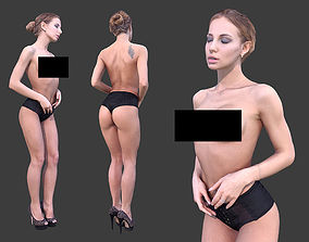 3D asset realtime Topless Woman