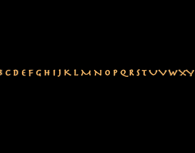 the English alphabet 3D asset
