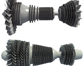 3D model Set of 2 Turbines