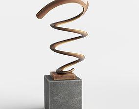 Modern Decorative Abstract Copper Art Sculpture 24 3D