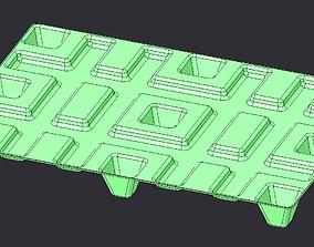 Plastic pallet 3d model - real dimension