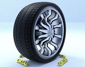 3D model ORTAS CAR RIM 37 GAME READY RIM TIRE AND DISC