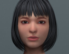Asian Women Head 3D model