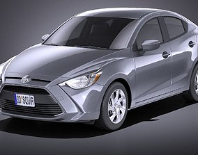 Toyota Yaris sedan 2017 VRAY 3D model