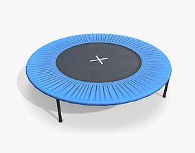 3D asset Trampoline lowpoly