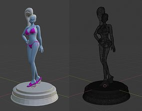 Dragonball Character - Vados 3D Modelling Low-poly 3D