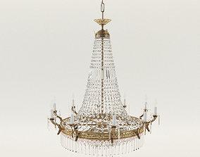 Crystal chandelier - Classicist style around 1930 - 3D 1