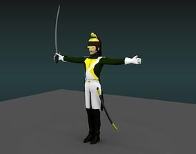 3D model Dragoon heavy cavalery napoleon