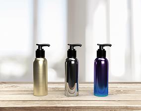 3D Pump bottle or pump dispenser in different metallic