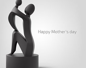 mother is day sculpture 3D printable model