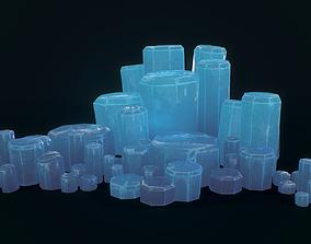 Crystals Cyl 8 pcs 3D asset