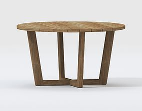 3D COCO TEAK ROUND OUTDOOR DINING TABLE