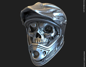 Biker helmet skull vol5 ring jewelry 3D printable model
