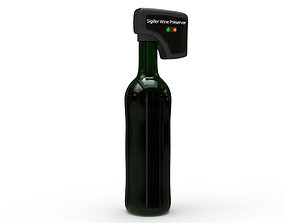 Wine preserver vacuum device 3D