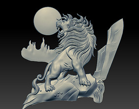 angry lion 3D print model