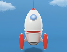 Cartoon Rocket 3D asset realtime