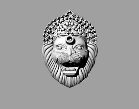 lion face with beard noro singho 3D print model