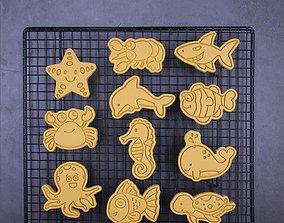 Ocean Animal Cookie Cutters set of 11 3D printable model