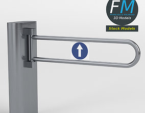 Swing barrier gate 3D model