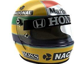 3D asset Ayrton Senna Helmet 1988
