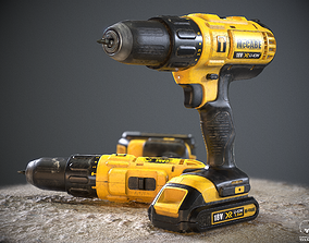 Handheld Cordless Drill Driver 3D model