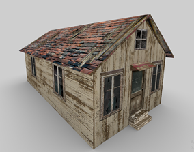 game-ready Cottage House 3D Model