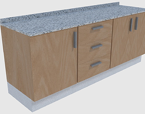 Cabinet 5 - Game Ready 3D model