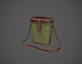 3D asset Leather and Khaki Binocular Bag