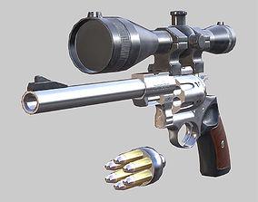 Ruger Redhawk animated pistol 3D asset realtime