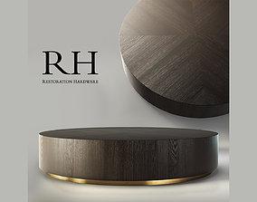 RH Machinto Round Coffee Table 3D
