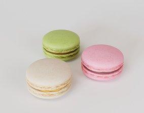 Macarons Low Poly 3D model