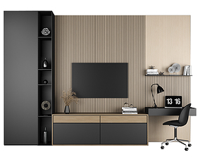 3D model TV stand and workplace 79