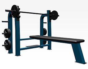 3D model Bench fitness equipment