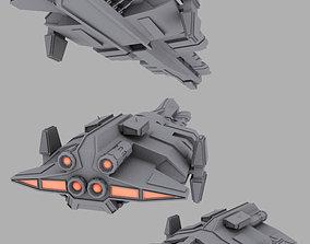 Human warship 3D
