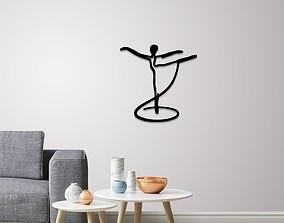 Pale dancer wall art 3D model