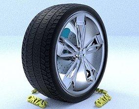3D ORTAS CAR RIM 29 GAME READY RIM TIRE AND DISC