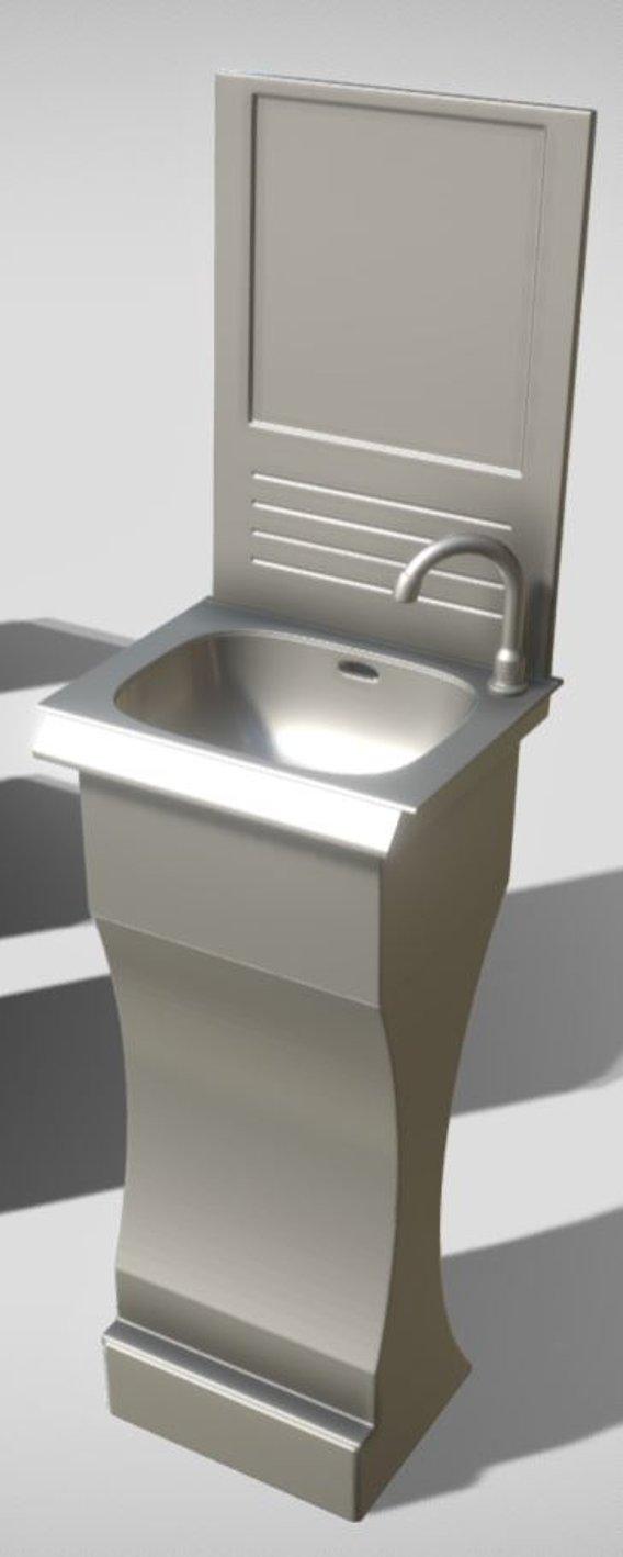 Modular Public Sink High-Poly (Version-3) Blender-2.92
