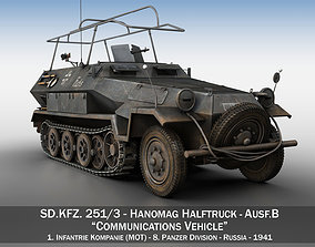 3D model SDKFZ 251 3 - Ausf B - Communications Vehicle -