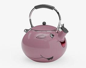 3D asset game-ready Piggy Tea Kettle