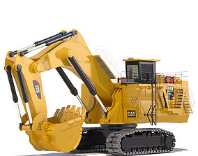 Mining Excavator Backhoe 3D model