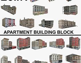 20 Apartment Building Block Collection 1 3D asset